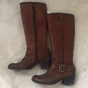 Shoes - Genuine Tan Leather Boots size 37